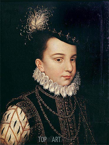 Portrait of Francois Hercule de France Duc d'Alencon, undated | Francois Clouet| Painting Reproduction