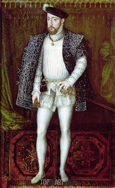 Francois Clouet | Portrait of Henri II King of France, 1547