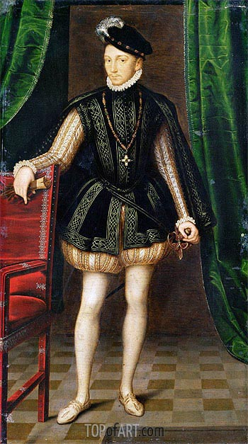 Portrait of Charles IX, undated | Francois Clouet | Painting Reproduction