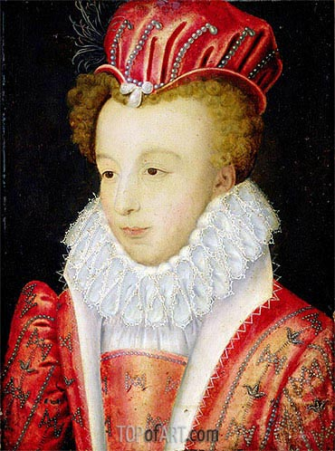 Marguerite de Valois, c.1572 | Francois Clouet | Painting Reproduction