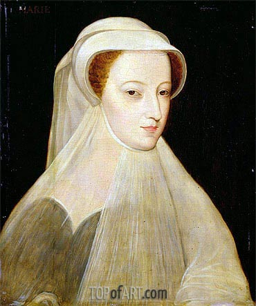 Mary Queen of Scots in White Mourning, 1561 | Francois Clouet | Gemälde Reproduktion