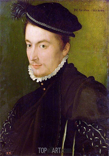 Portrait of Hercule-Francois de France Duke of Alencon, c.1560 | Francois Clouet| Painting Reproduction
