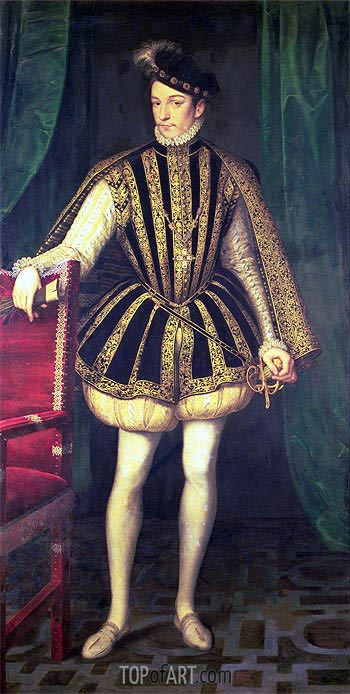King Charles IX of France, c.1565 | Francois Clouet| Painting Reproduction