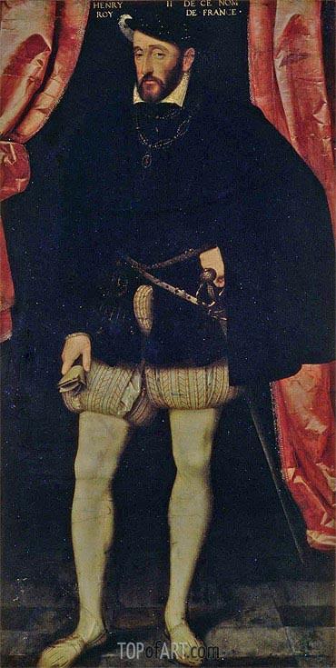 Francois Clouet | Portrait of King Henri II of France, undated