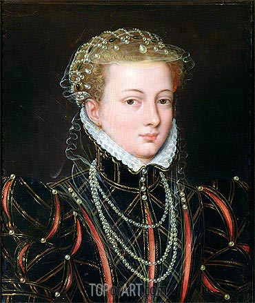 Portrait of Margaret Duchess of Parma, Regent of the Netherlands, c.1559/67 | Francois Clouet| Painting Reproduction