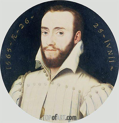 Francois Clouet | Portrait of a Bearded Gentleman, Aged 26, 1565