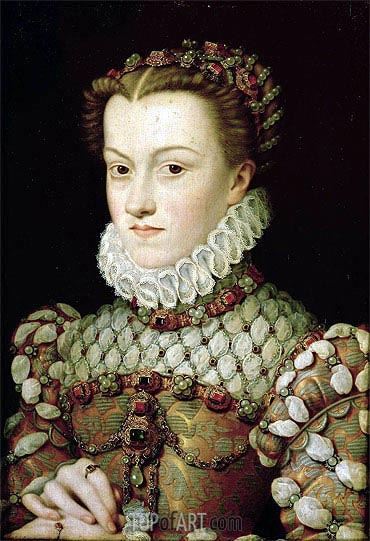 Francois Clouet | Portrait of Elizabeth of Austria Queen of France, 1571