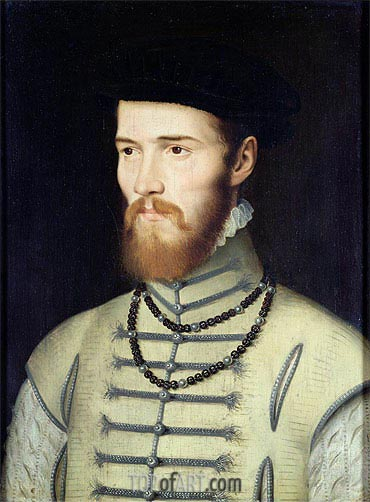 Portrait of a Man, possibly Don John of Austria, c.1570 | Francois Clouet| Painting Reproduction