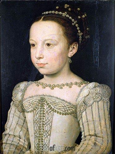 Francois Clouet | Marguerite de Valois, c.1561