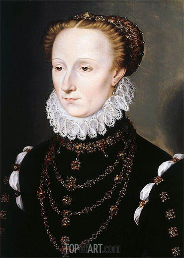 Madeleine Le Clerc du Tremblay, c.1570 | Francois Clouet| Painting Reproduction