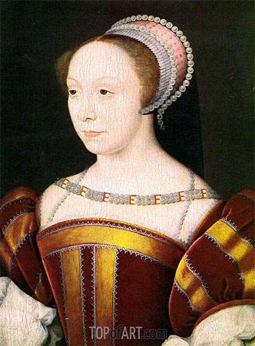 Francoise Breze- Duchesse de Bouillon, 1550 | Francois Clouet | Painting Reproduction