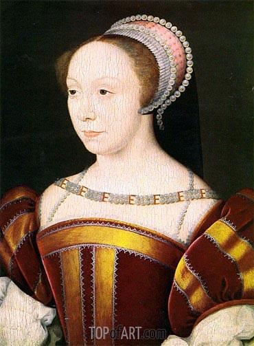 Francois Clouet | Francoise Breze- Duchesse de Bouillon, 1550