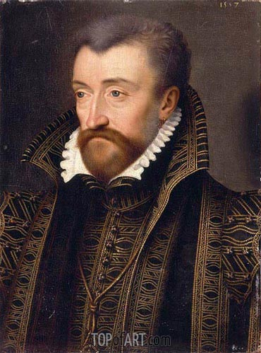 Portrait of Antoine de Bourbon, 1557 | Francois Clouet | Painting Reproduction