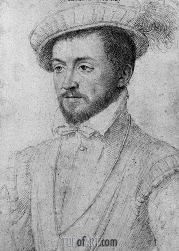 Francois Clouet | Le Marechal de Montmorency, undated