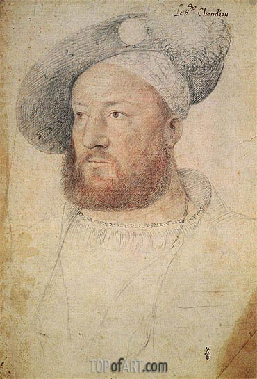 Louis de Chandio Lord of Bussy, c.1520 | Francois Clouet| Painting Reproduction
