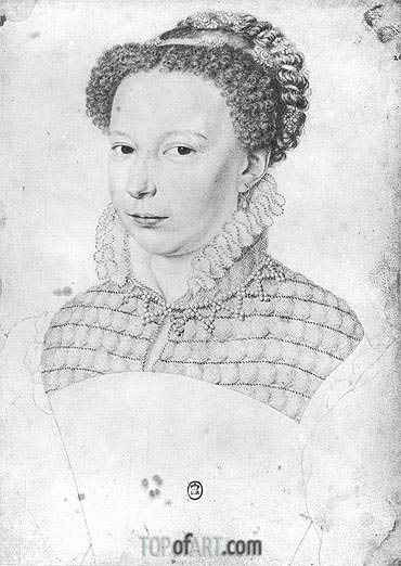 Marguerite of Valois, 1568 | Francois Clouet | Painting Reproduction