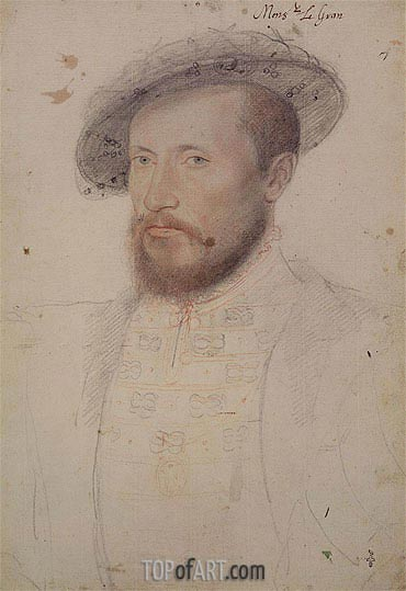Portrait of Claude Gouffier Duke of Roannais, c.1543 | Francois Clouet | Painting Reproduction