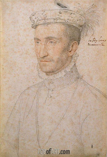 Henri II d'Albret Count of Foix and Bigorre, c.1550 | Francois Clouet | Painting Reproduction