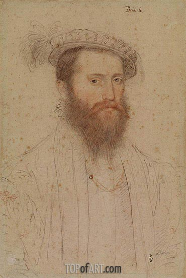 Francois Clouet | Portrait of Pierre de Cluys, Lord of Briande, c.1551