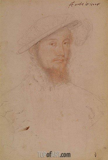 Francois Clouet | Portrait of Jacques d'Albon Lord of Saint-Andre, c.1545