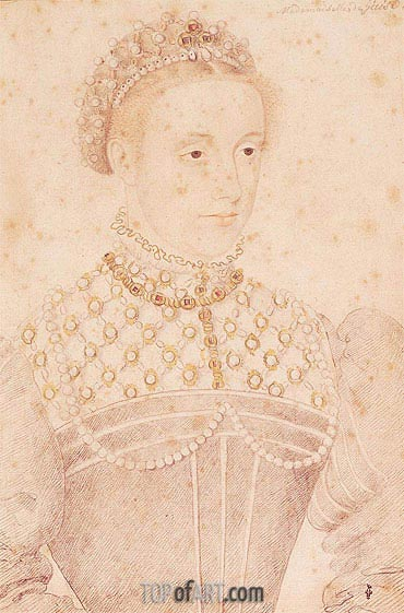 Portrait Presumed to be Mary Queen of Scots, c.1560 | Francois Clouet | Painting Reproduction