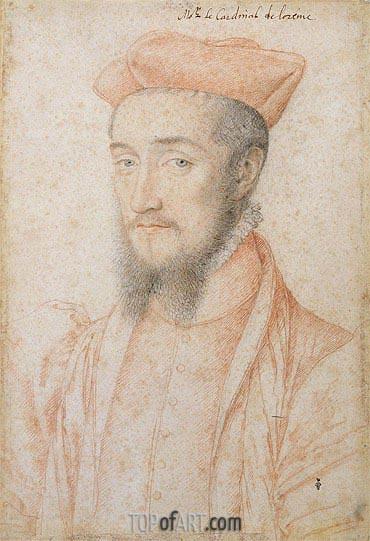 Francois Clouet | Portrait of Cardinal Charles de Lorraine, c.1555