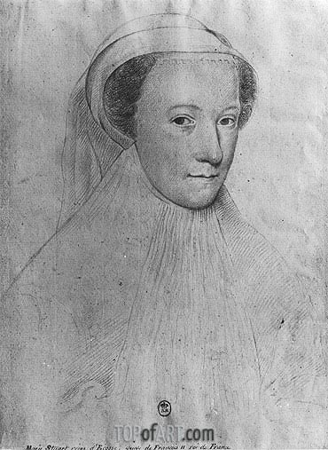 Mary, Queen of Scots in White Mourning, 1560 | Francois Clouet | Gemälde Reproduktion