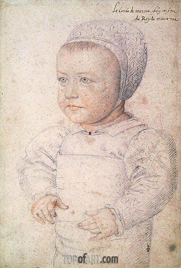 Francois Clouet | Louis Charles de Bourbon Comte de Marle, 1555