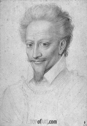 Francois Clouet | Henri I de Bourbon Prince de Conde, undated