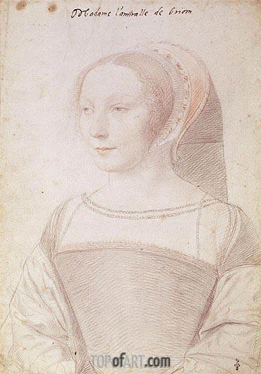 Francois Clouet | Francoise de Longwy wife of Philippe Chapot, Seigneur de Brion, c.1535