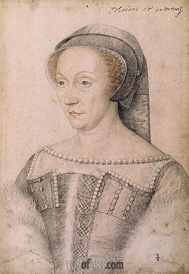 Francois Clouet | Diane de Poitiers Duchess of Valentinois, undated