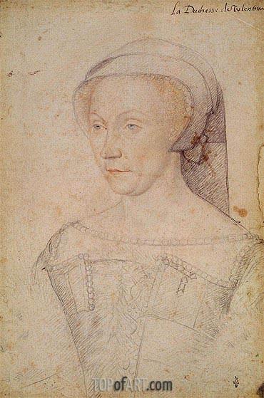 Francois Clouet | Diane de Poitiers Duchess of Valentinois, c.1555