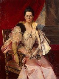 Portrait of Princess Zinaida Yusupova, 1894 by Francois Flameng | Painting Reproduction