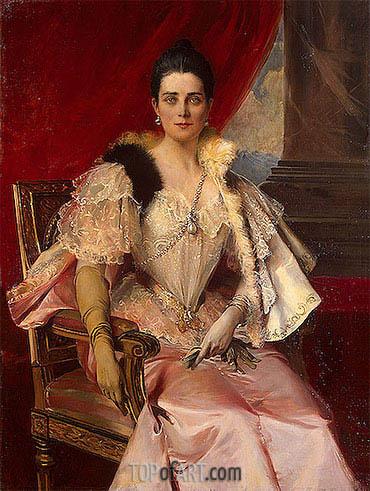 Francois Flameng | Portrait of Princess Zinaida Yusupova, 1894