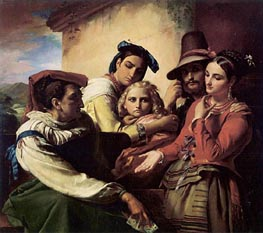 The Fortune Teller, 1849 by Francois Navez | Painting Reproduction