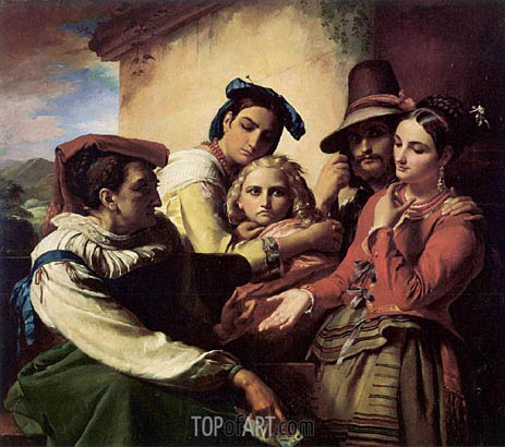 Francois Navez | The Fortune Teller, 1849