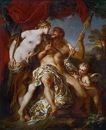 Hercules and Omphale, 1724 by Francois Lemoyne | Painting Reproduction