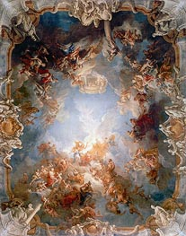 Apotheosis of Hercules, c.1731/35 by Francois Lemoyne | Painting Reproduction