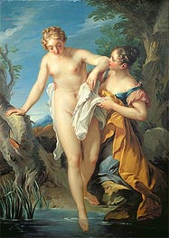 The Bather and her Maid | Francois Lemoyne | outdated