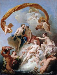The Toilet of Venus, undated by Francois Lemoyne | Painting Reproduction