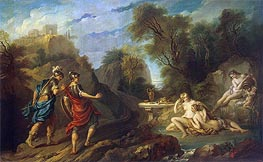 Messengers of Godfrey of Bouillon in Gardens of Armida, 1735 by Francois Lemoyne | Painting Reproduction