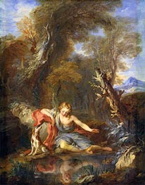 Narcissus, 1728 by Francois Lemoyne | Painting Reproduction