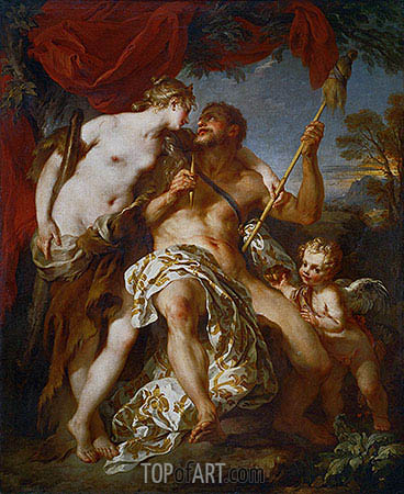 Hercules and Omphale, 1724 | Francois Lemoyne| Painting Reproduction