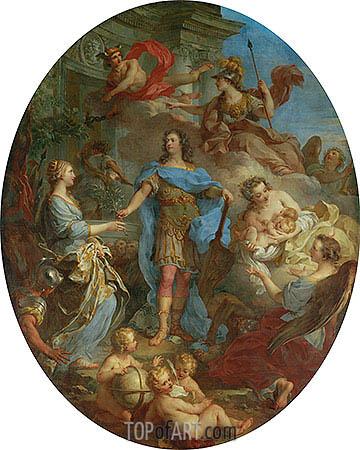 Louis XV Bringing Peace to Europe, undated   Francois Lemoyne   Painting Reproduction