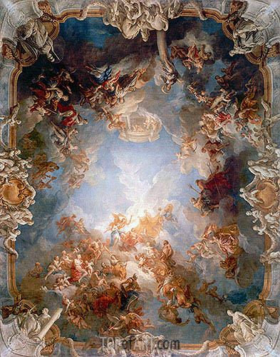 Apotheosis of Hercules, c.1731/35 | Francois Lemoyne | Painting Reproduction
