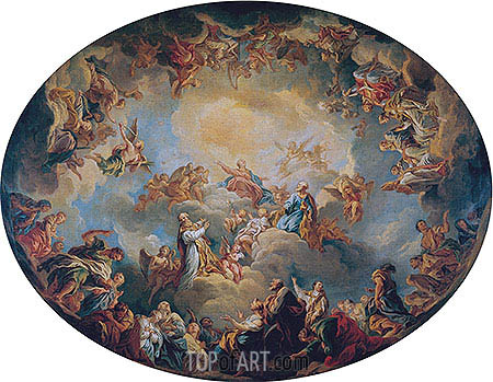 The Glorification of the Virgin, 1731 | Francois Lemoyne | Painting Reproduction
