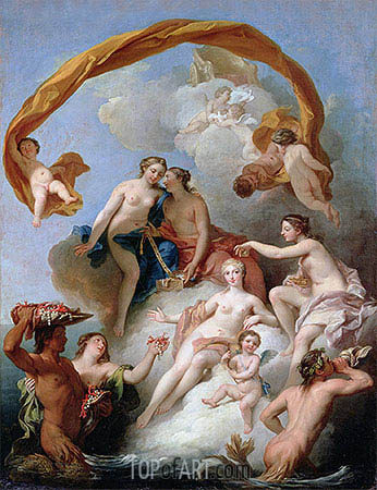 The Toilet of Venus, undated | Francois Lemoyne | Painting Reproduction