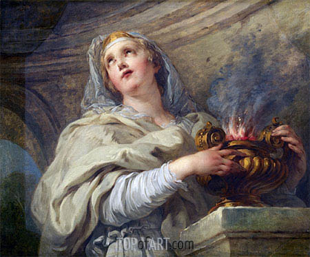 Vestal Virgin, c.1730 | Francois Lemoyne| Painting Reproduction