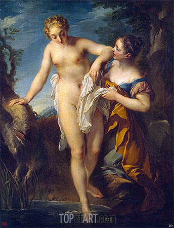 Woman Bathing, a.1724 | Francois Lemoyne | Painting Reproduction