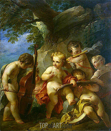 Genius of Music, c.1727/29 | Francois Lemoyne | Painting Reproduction
